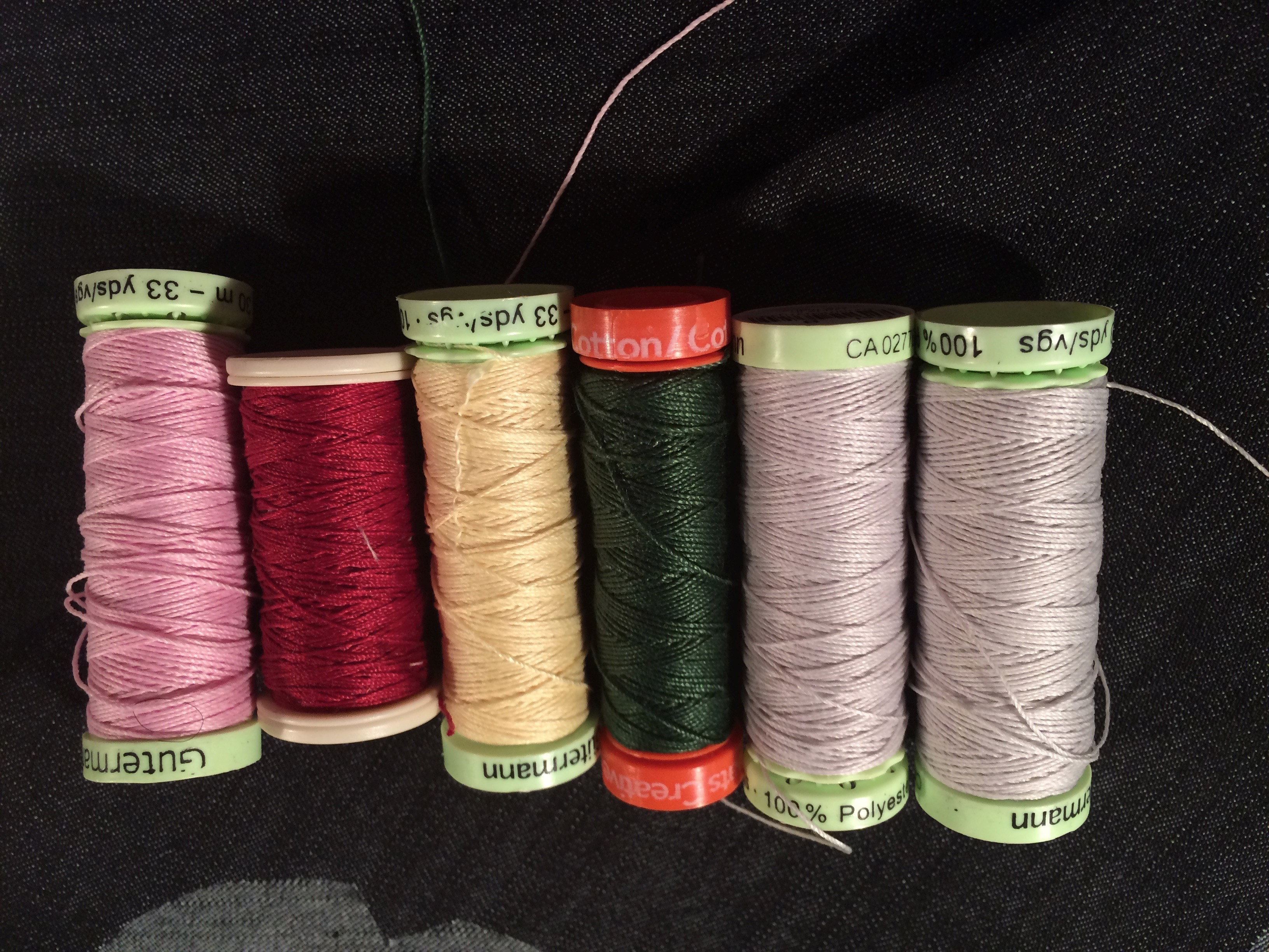 Choosing a top stitching thread