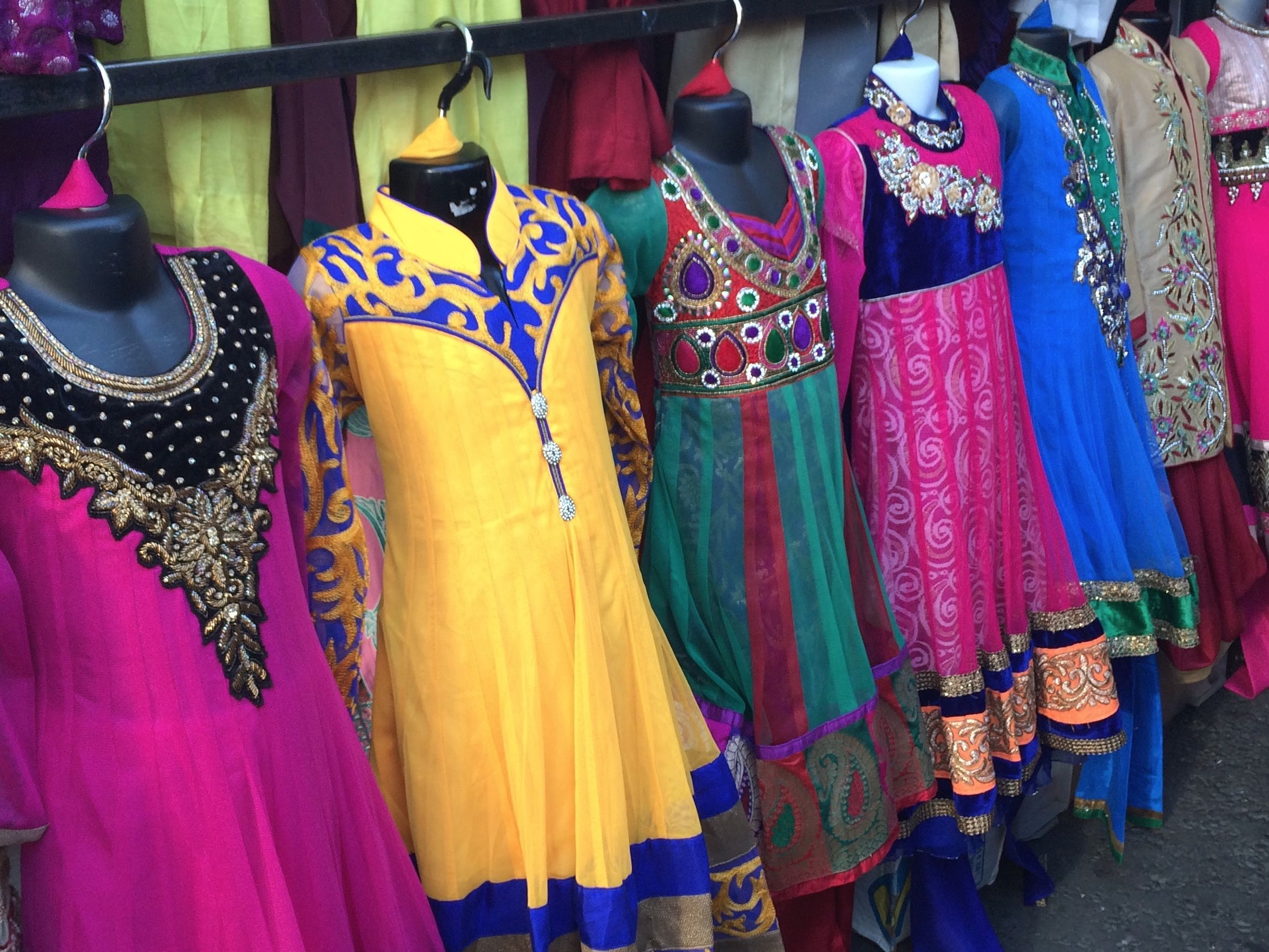 Colourful Asian clothes