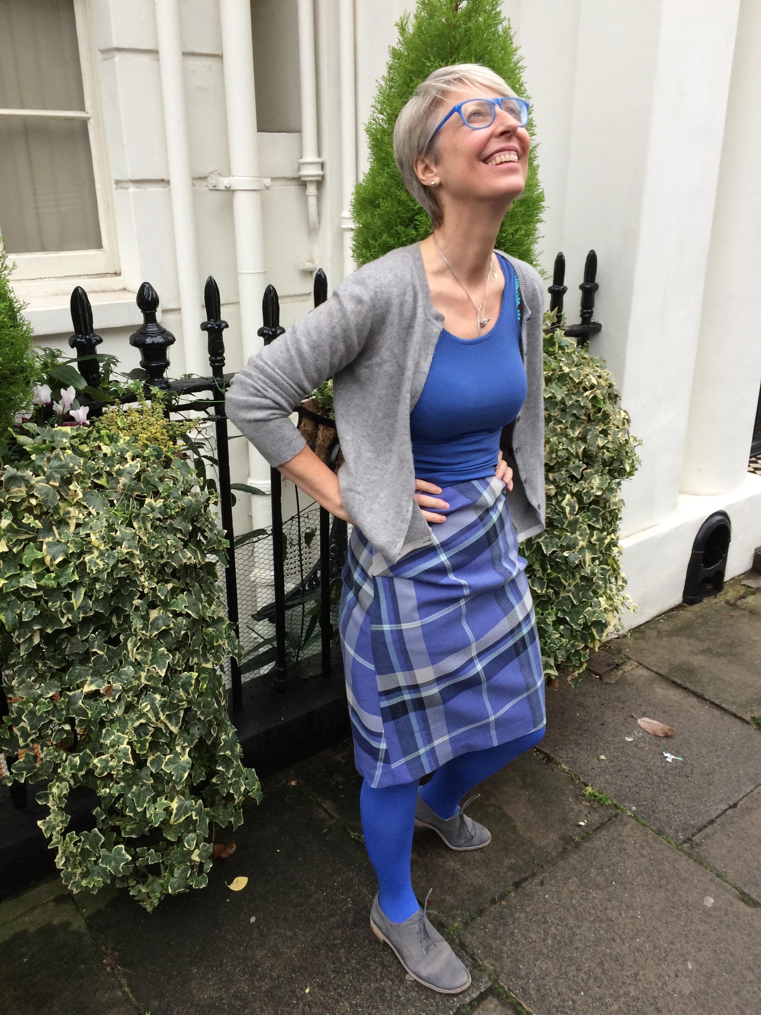 Draped side pleat skirt