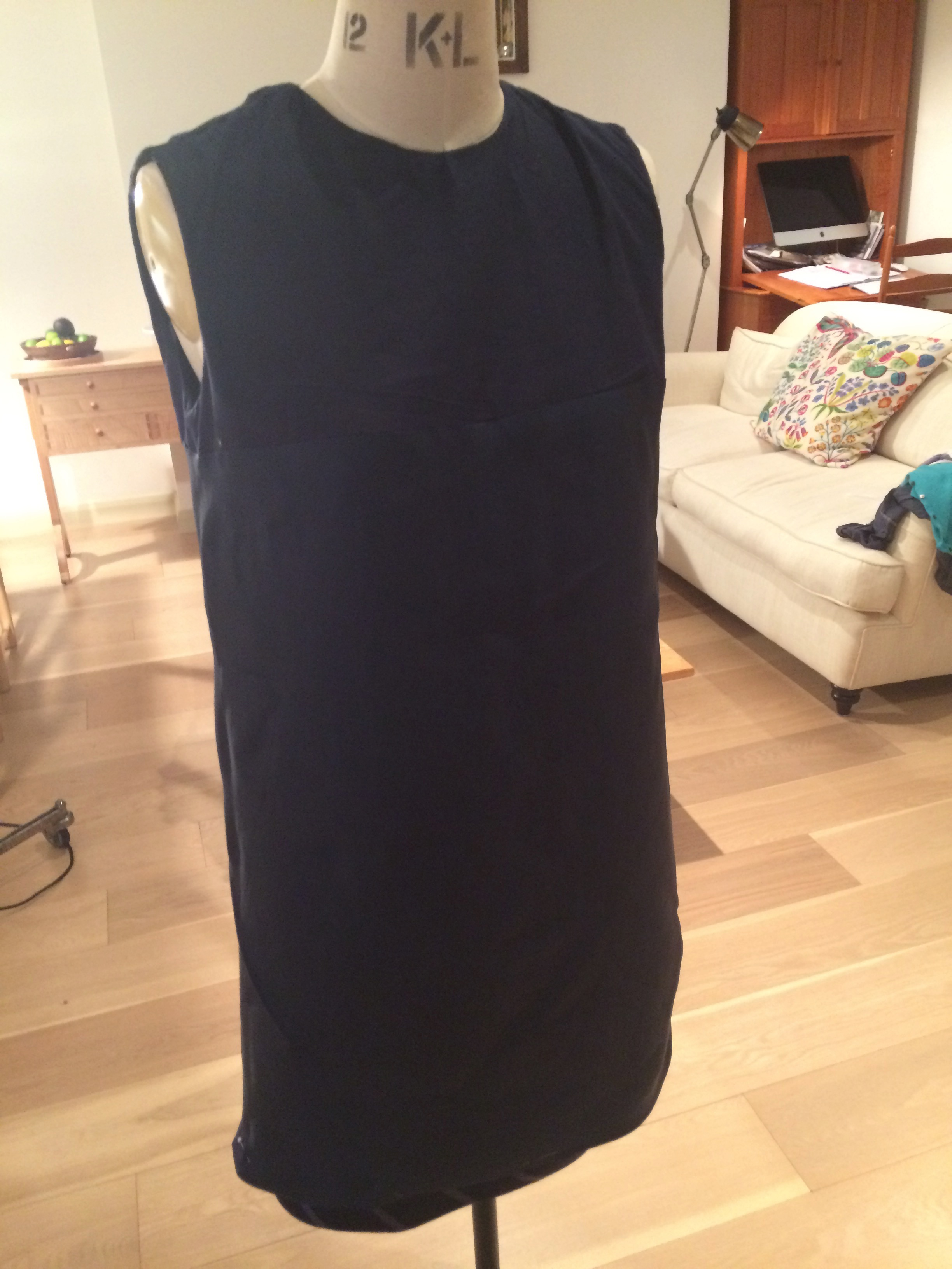 Lining front (side pleat shift)