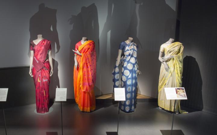 Sari exhibits