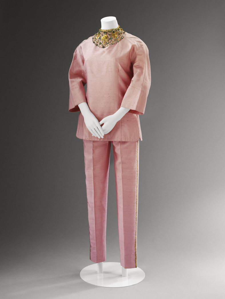 Irene Galitzine, silk palazzo pyjamas, c.1963.