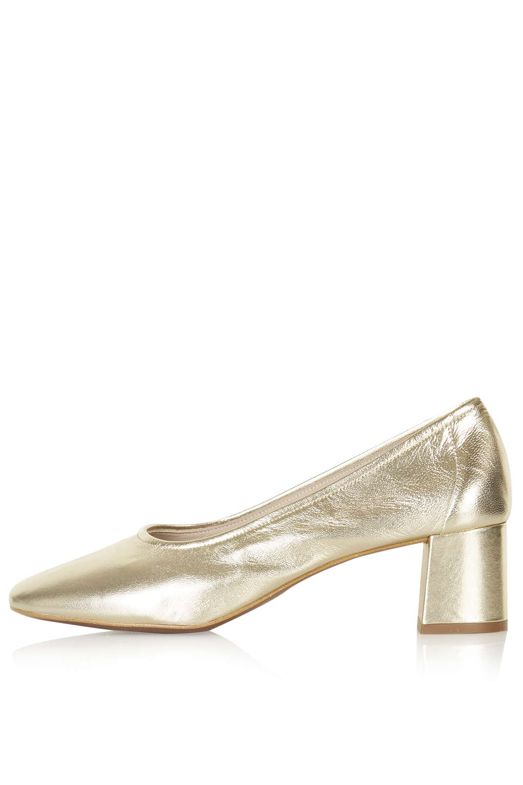 Gold retro shoe