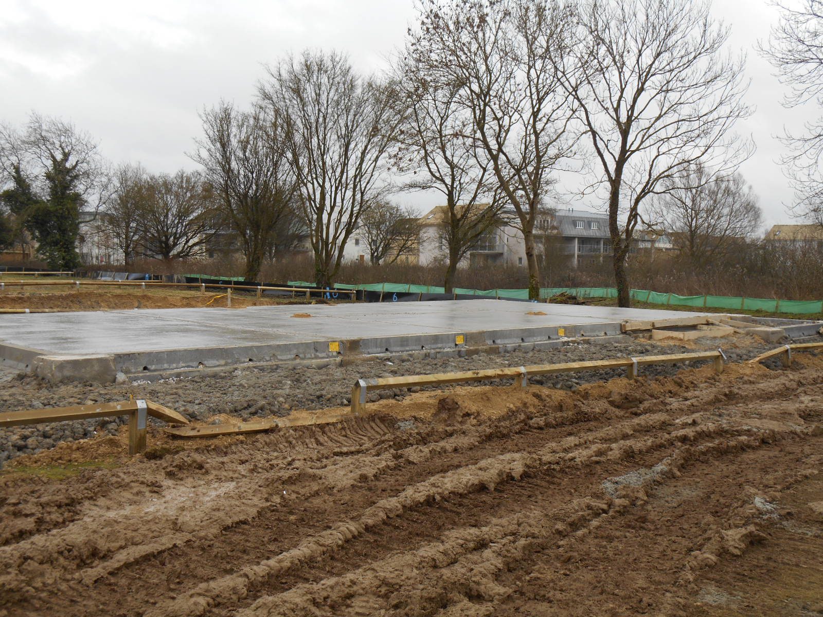 Our site - with slab