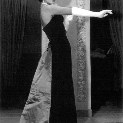 Callas in Biki evening gown