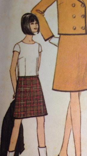 McCalls 7938 A line skirt