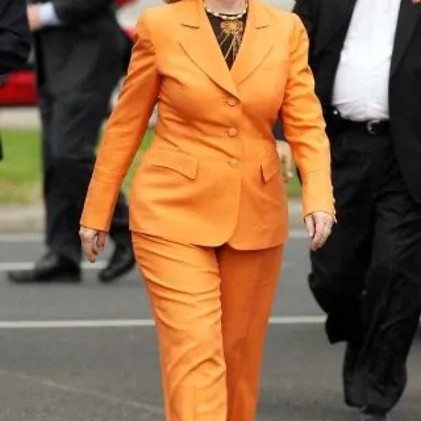 Hillary Clinton Orange pant suit