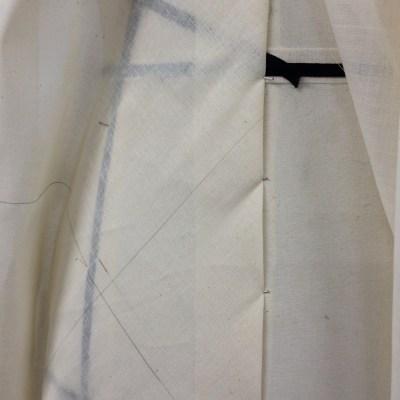 Bias drape - front panel