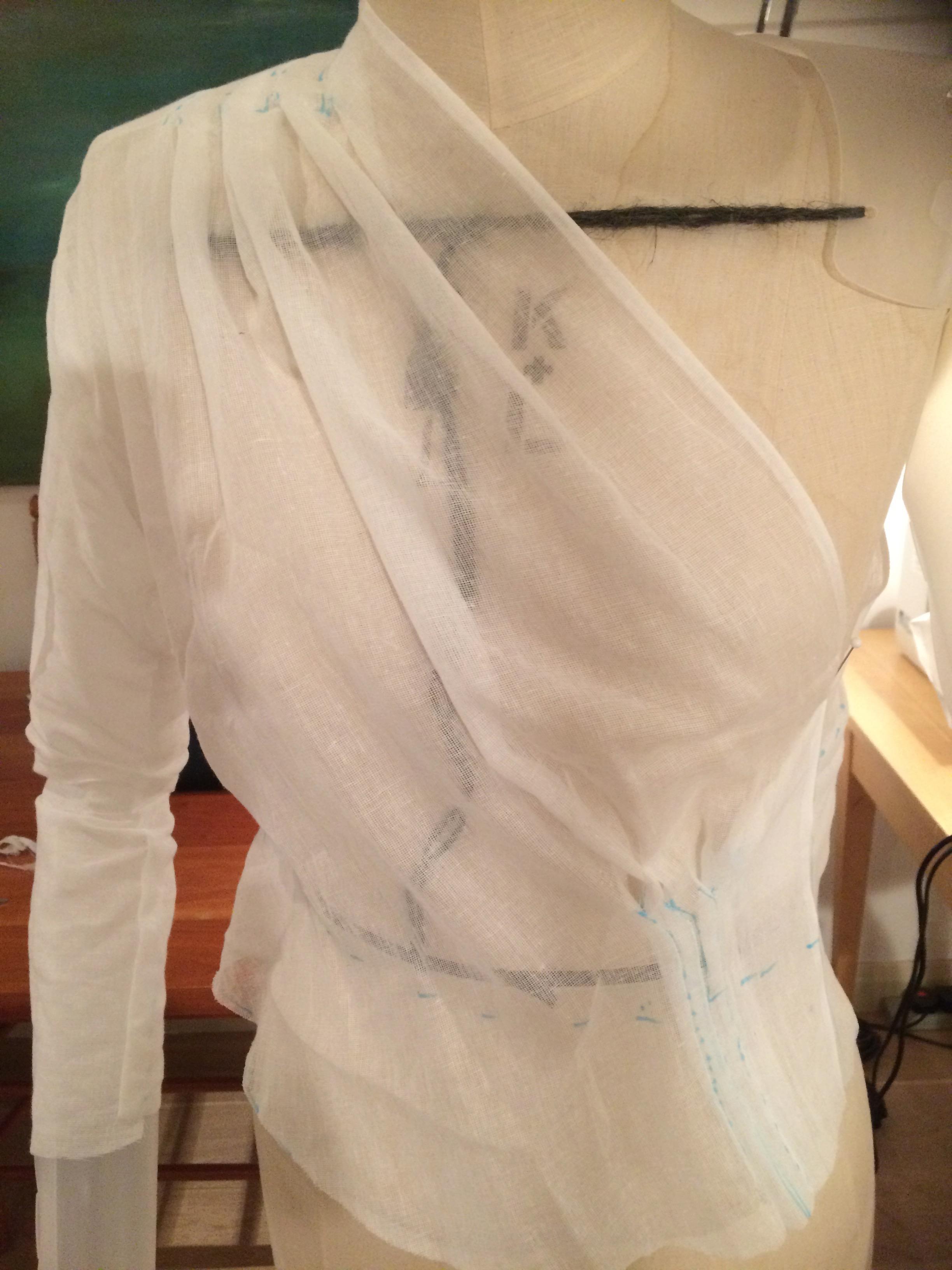 Schiaparelli two part blouse front