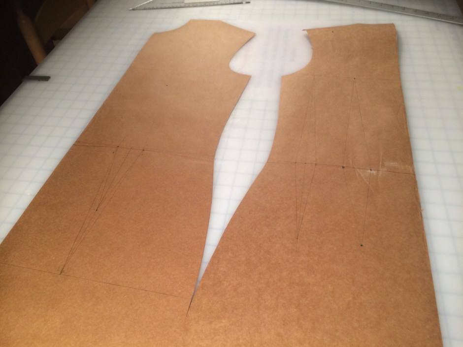 Dress block, drafted to personal measurements