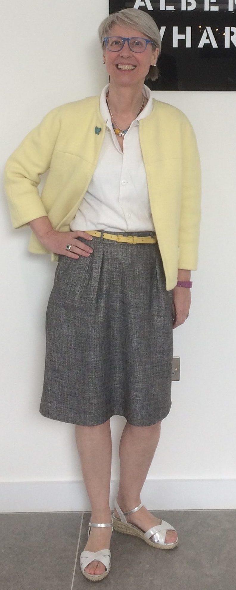 5. 1980s skirt, 1950s blouse, 1960s jacket