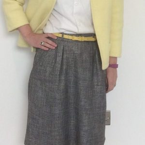 5. 1980s skirt, 1950s blouse, 1960s jacket