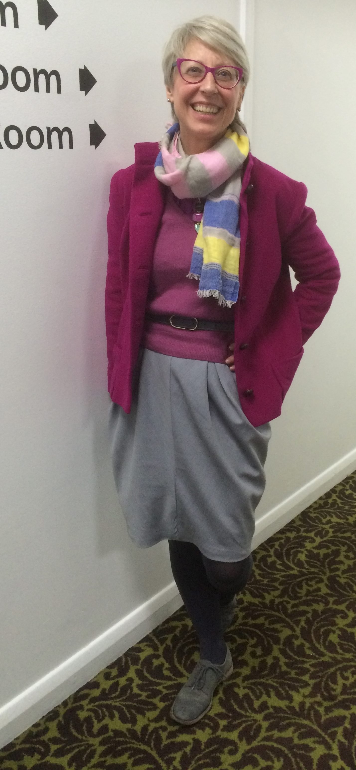 18. SWAP 15 1960s pink jacket with draping class pegged skirt