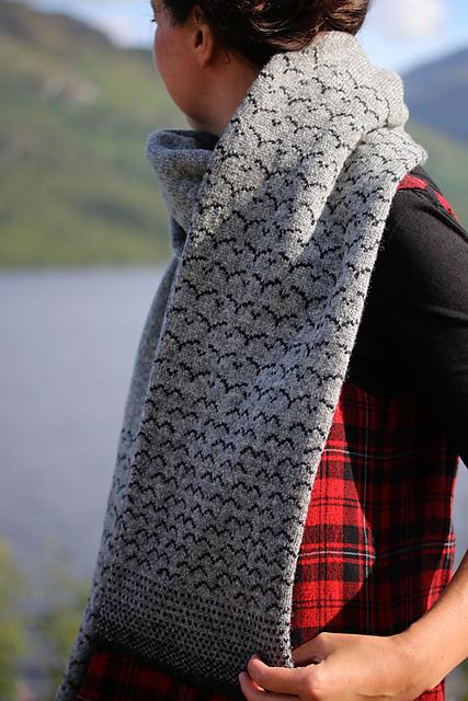 Murmuration scarf, Kate Davies