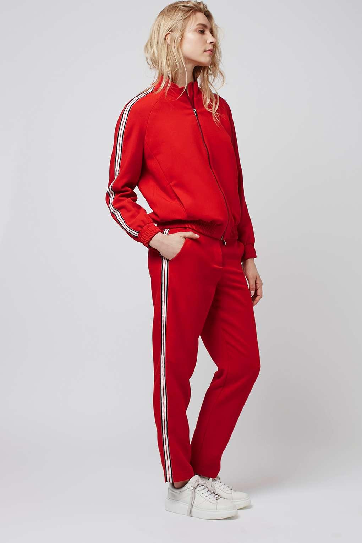 Top shop jogging pants and bomber jacket