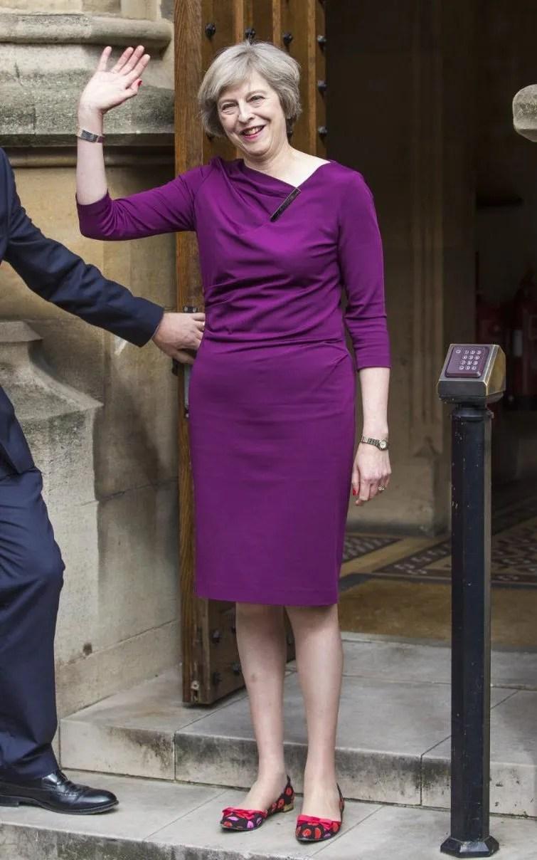 Theresa in purple dress