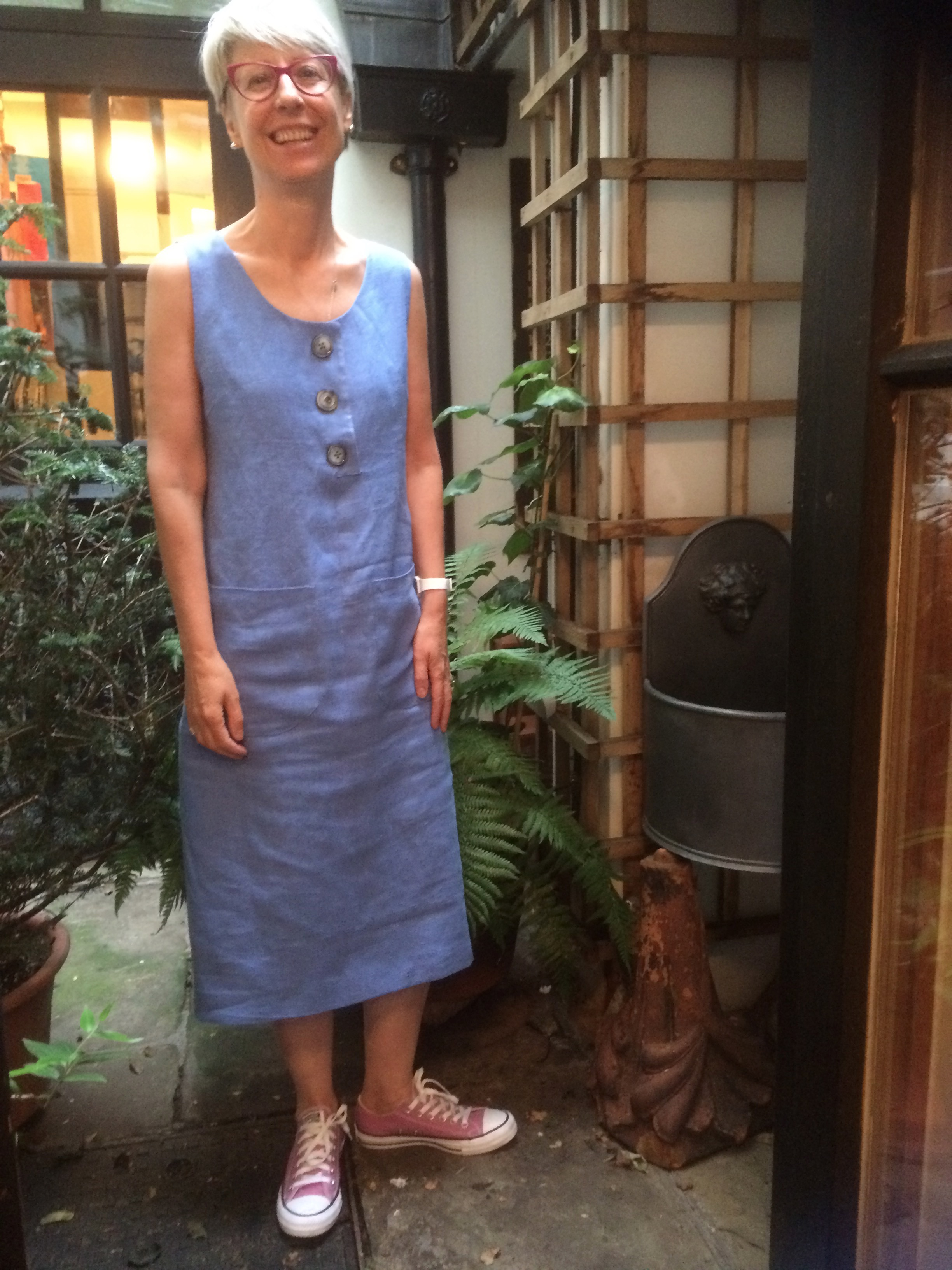 Easy fitting linen dress
