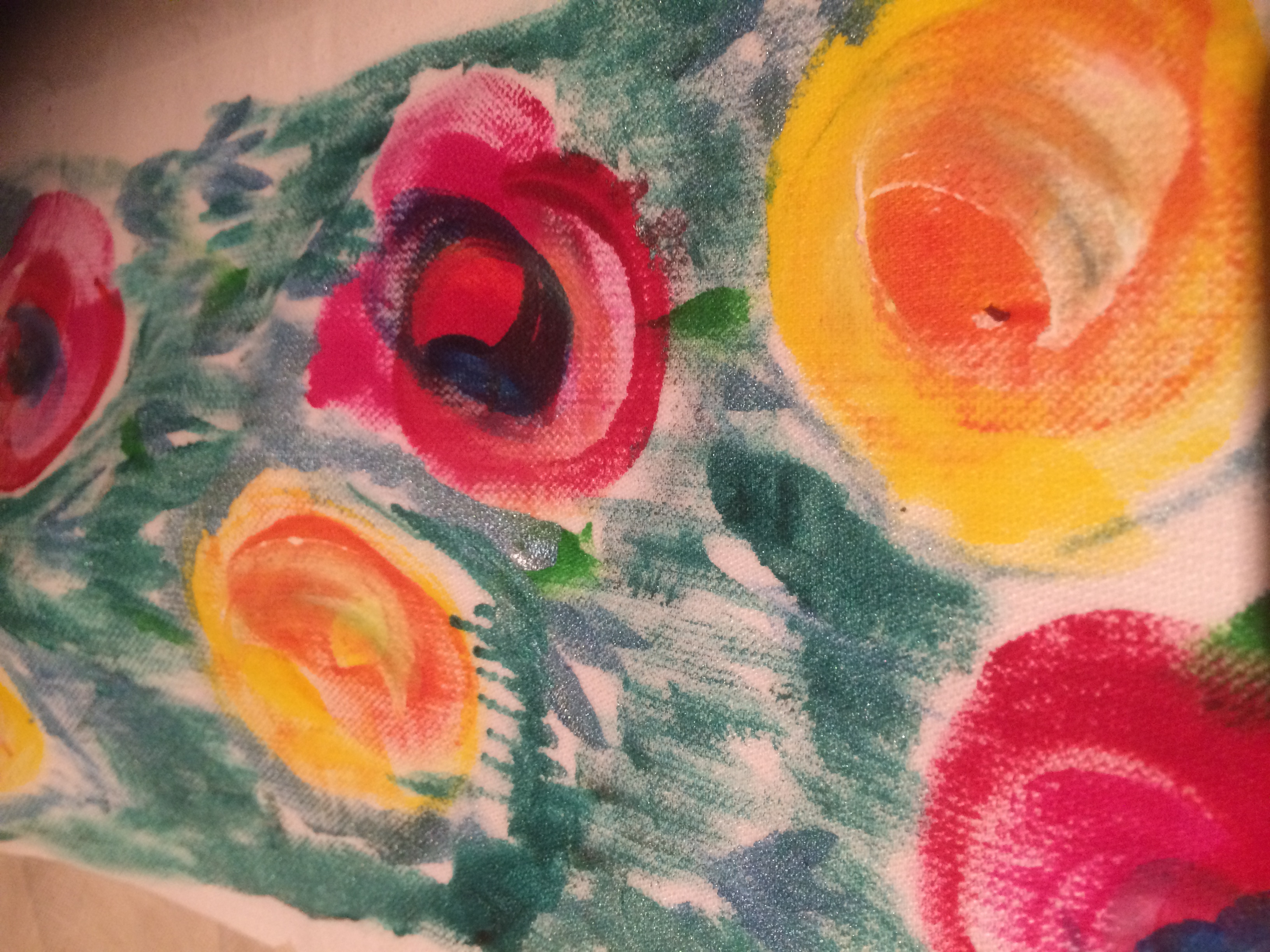 Painting on cotton (bodice)
