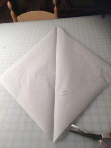 Handkerchief point godet