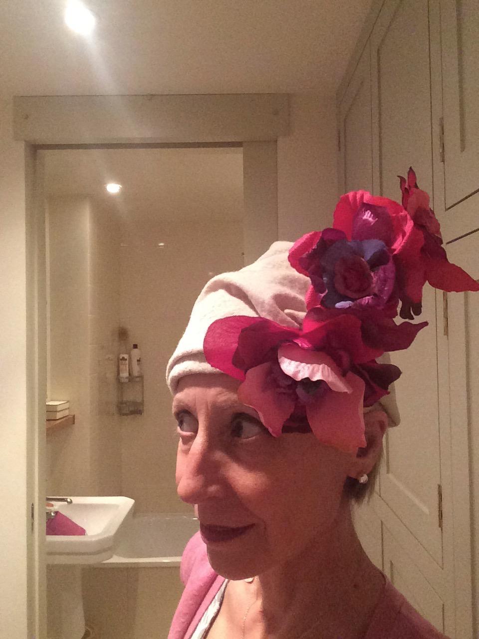 Roses and Cream hat