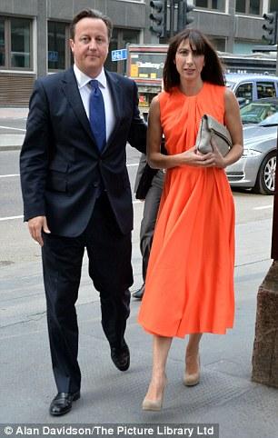 Orange silk and grey foldover bag