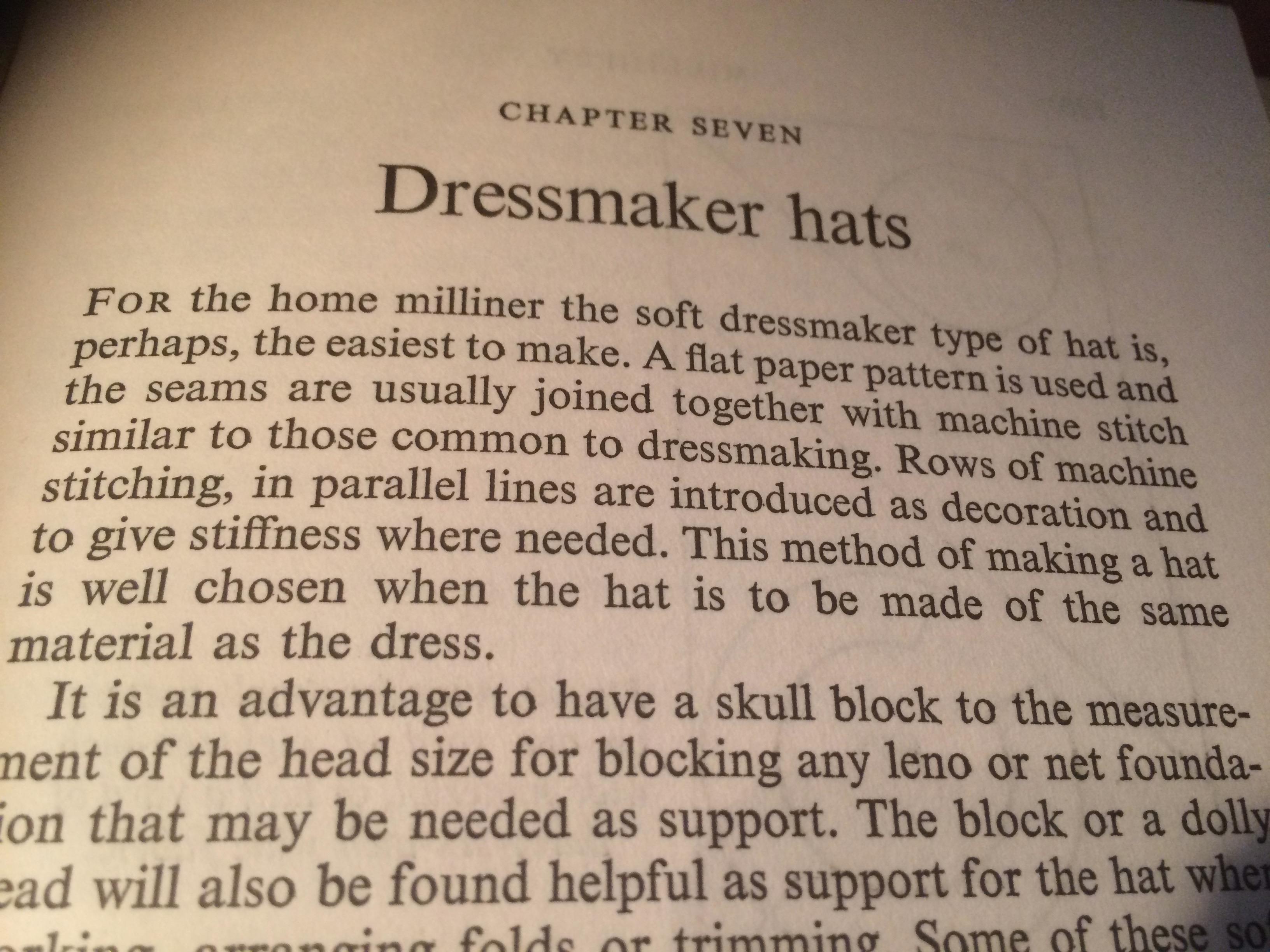 Dressmaker hats