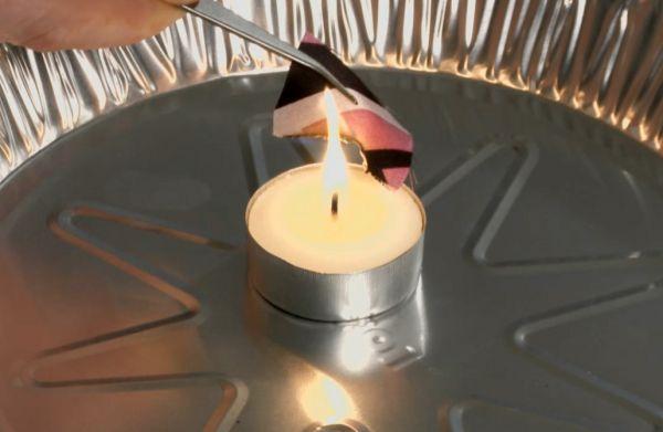 Burn testing fabric