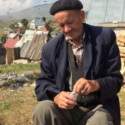 Grandpa with coffee