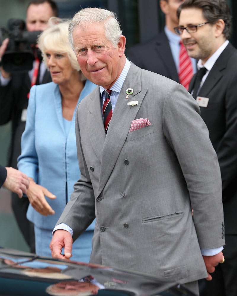 Prince Charles in repaired jacket