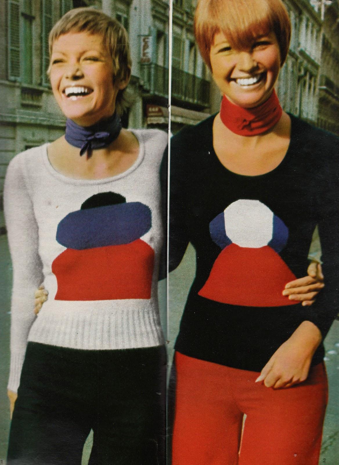 Sonia Ryiel 1960s Red, white, blue