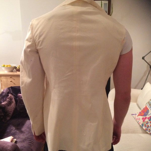 1940s jacket Toile #1 Back view