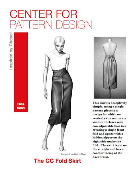 Centre for Pattern Design CC fold skirt