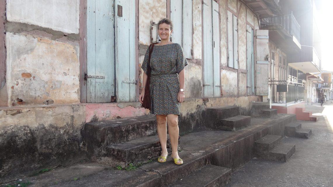 Karine in Cayenne in a Burda dress