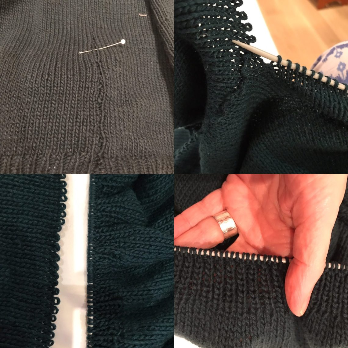 How to shorten a handknitted sweater