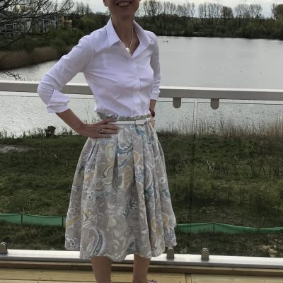 Pleated skirt - front view