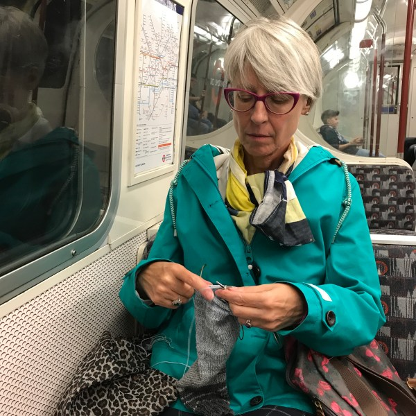 Knitting on the tube