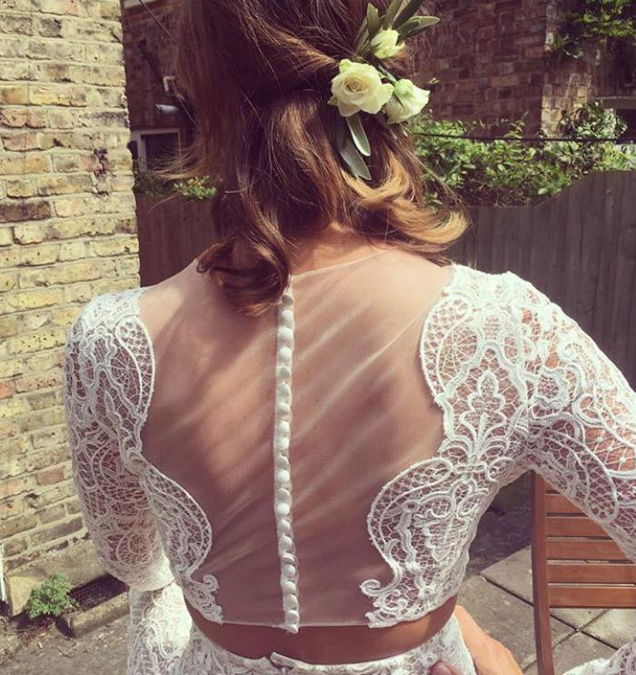 Kate's dress from the back