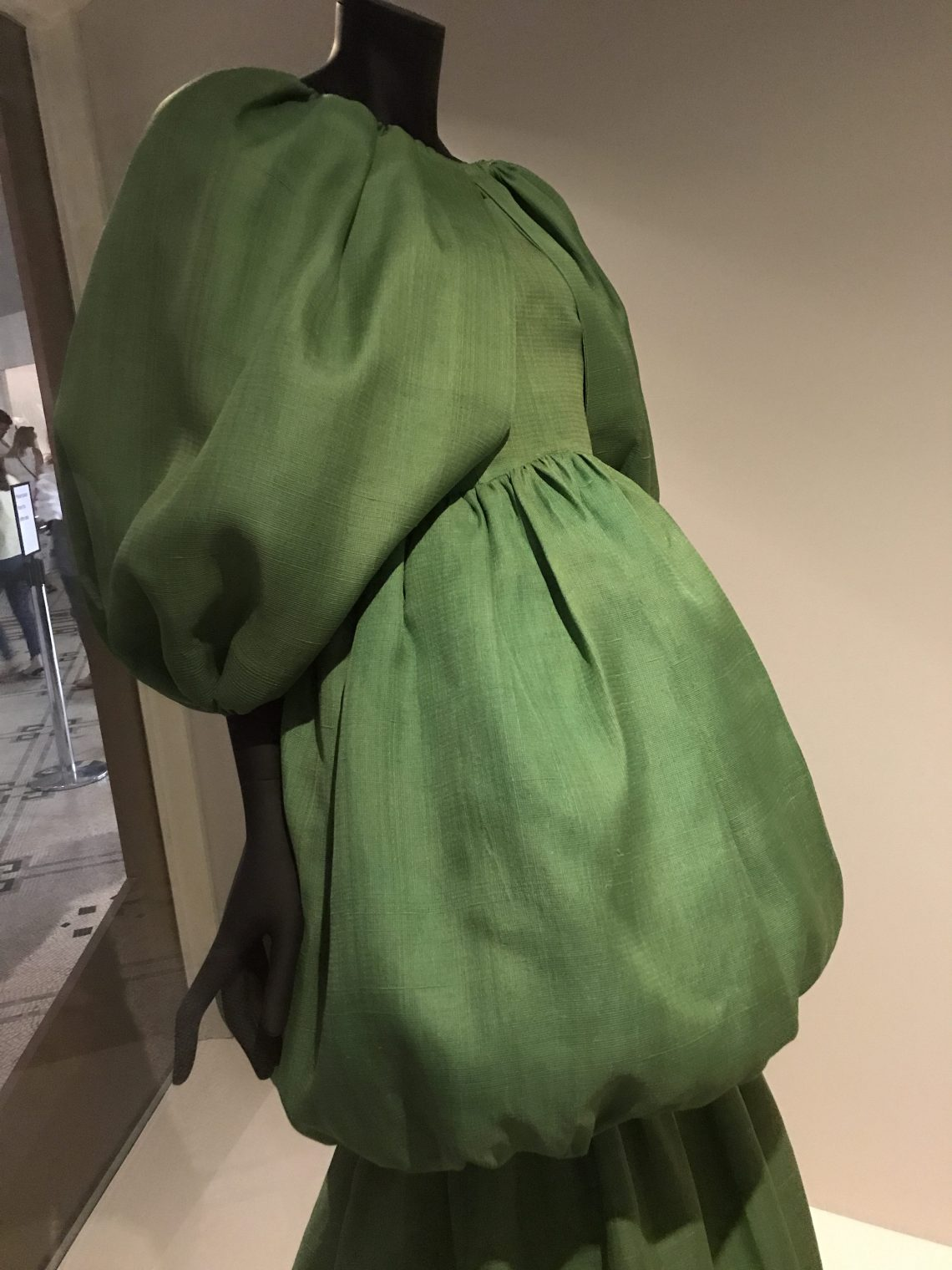 Balenciaga green balloon dress