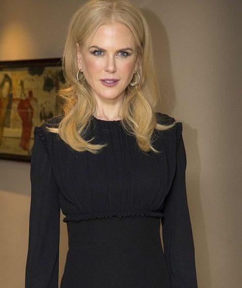Nicole Kidman in black