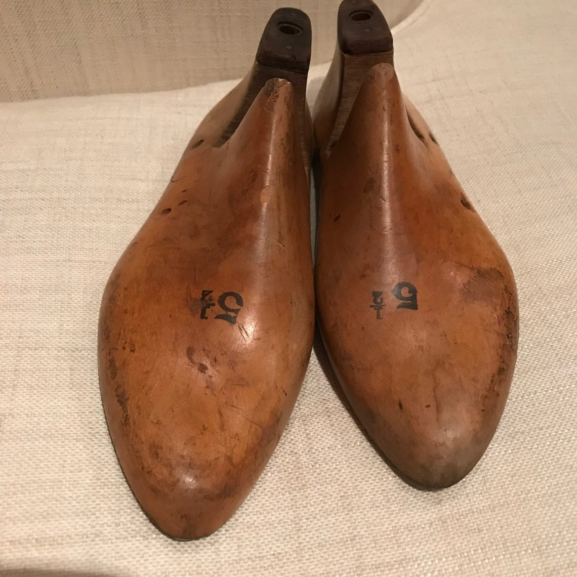 Vintage wooden shoe lasts
