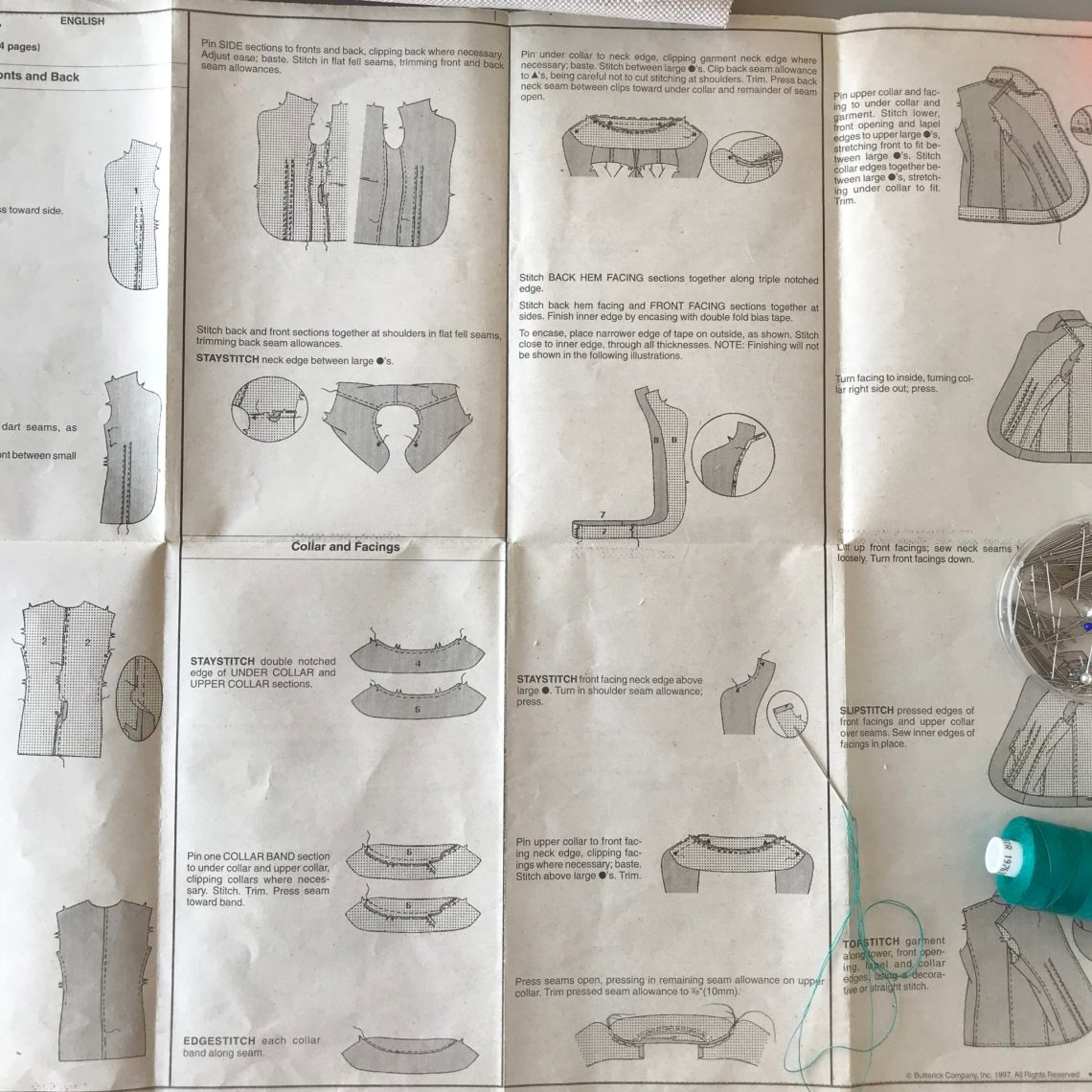 Vogue instruction sheet