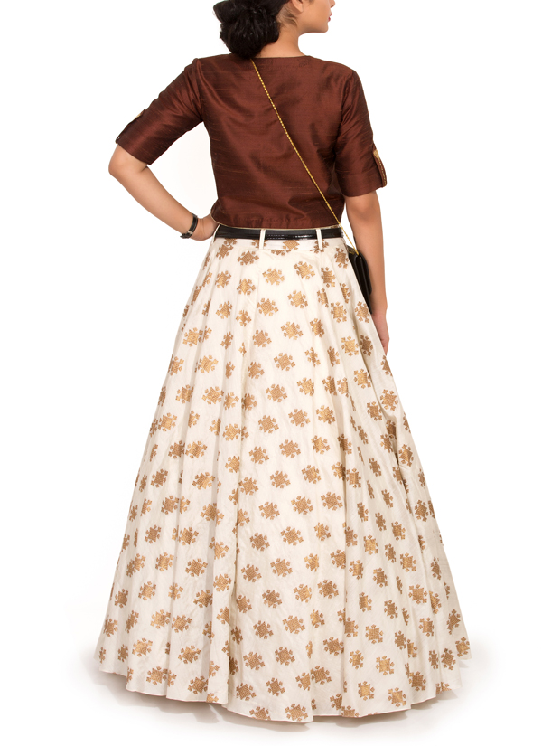 Indian full skirt and short top