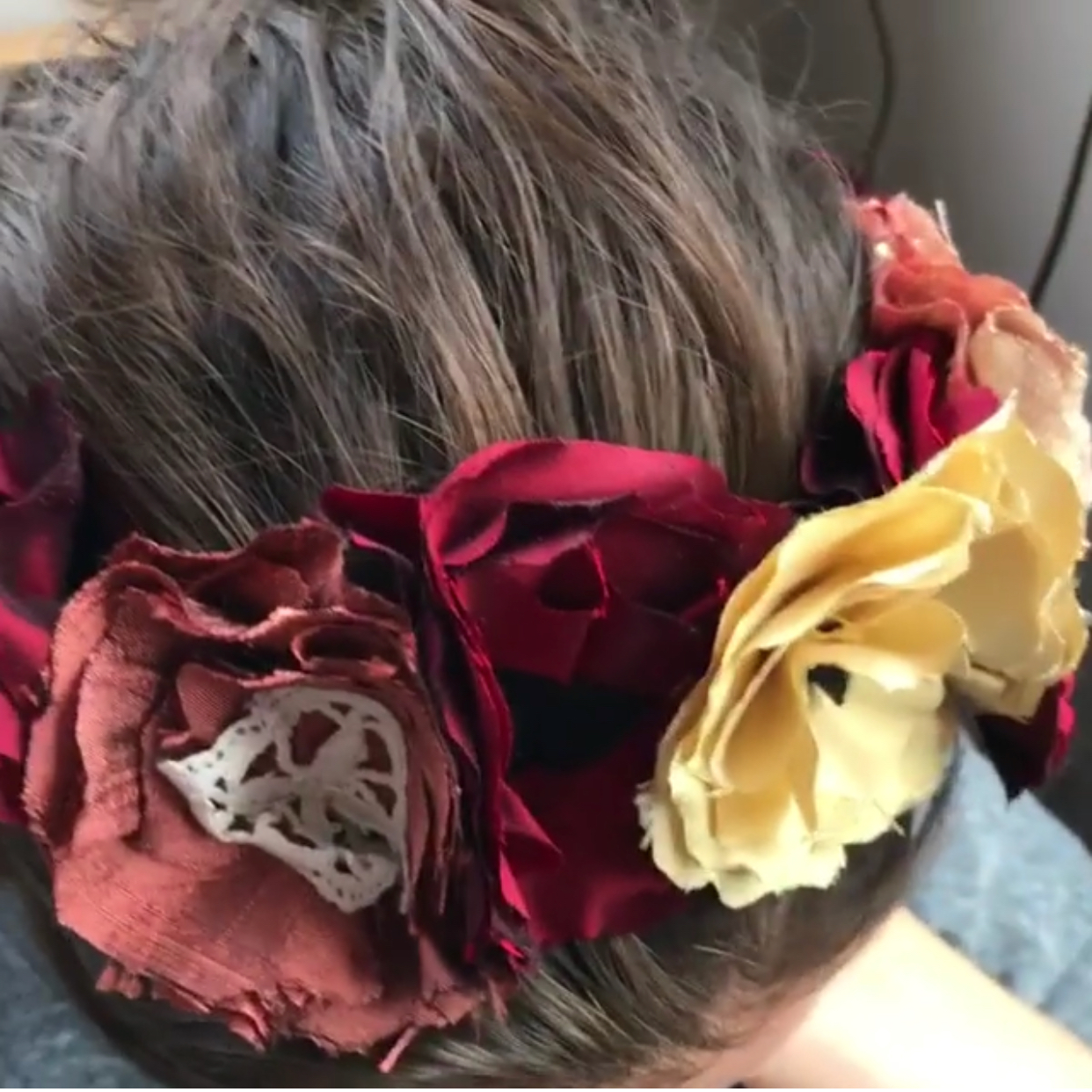 Janet's silk flower crown