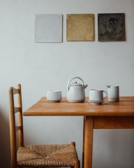 Pottery selection on table by Sheffield based Pottery West