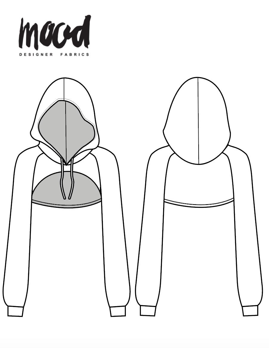 Oversized Hood Pattern : oversized, pattern, Gordonia, Hoodie, Sewing, Pattern, Sewciety
