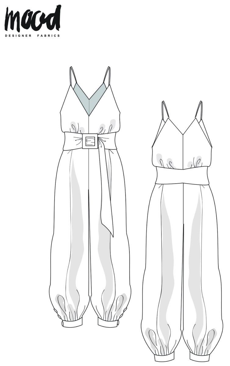 Jumpsuit Pattern Free : jumpsuit, pattern, Jumpsuit, Sewing, Pattern, Sewciety