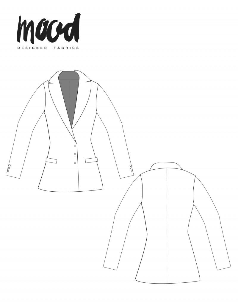 Women Blazer Patterns : women, blazer, patterns, Nepeta, Blazer, Sewing, Pattern, Sewciety