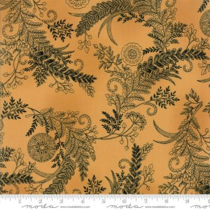 Bee Inspired Fabric - Moda Fabric - Half Yard - Deb Strain Novelty Fabric Botanical Sketch Black on Honey Yellow Gold Quilt Fabric 9794 11