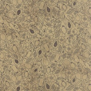 Black Tie Affair - Half Yard - Moda Fabric Floral Fig Study Gray on Tan Brown Quilting Quilt Fabric Basicgrey Basic Grey Gray 30422 13