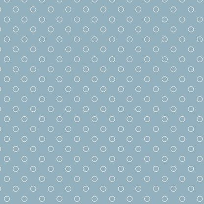 Blue Sky Fabric - Andover Fabric - Half Yard - Cream Circles Dots Bubbles on Blue Fabric Edyta Sitar Laundry Basket Quilts A-8515-W